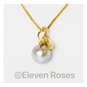Jewelry - 14k Gold Akoya Pearl Pendant Necklace